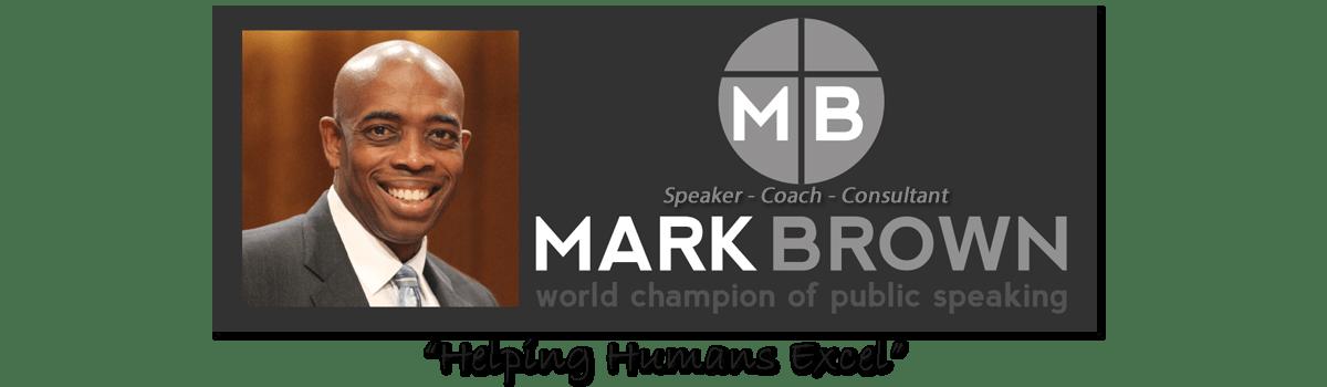 Mark Brown Speaks Logo